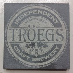Laser engraved slate tile with logo