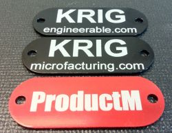 laser engraved anodized aluminum tags